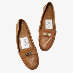 Coach Fredrica Moc Toe Leather Loafers